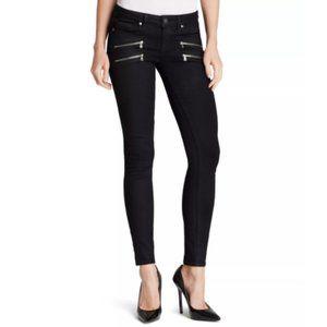 PAIGE Edgemont Ultra Skinny Jeans Zip Accent Black